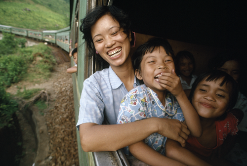 """Woman on the Train, Central Vietnam,"" 1990"